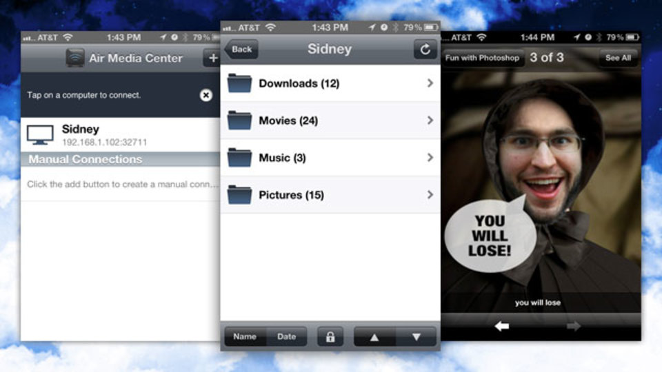 Air Videoよりも多機能&リーズナブルな『Air Media Center』ならメディアファイルをiPhoneで!