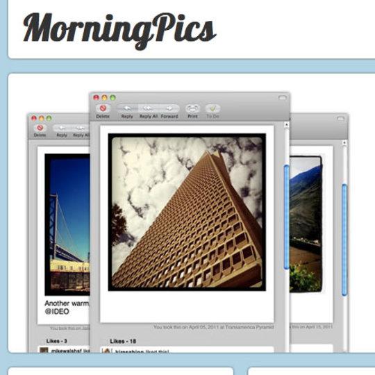 撮り貯めたInstagram写真を毎朝メールでお届けしてくれるサービス「Morning Pics」
