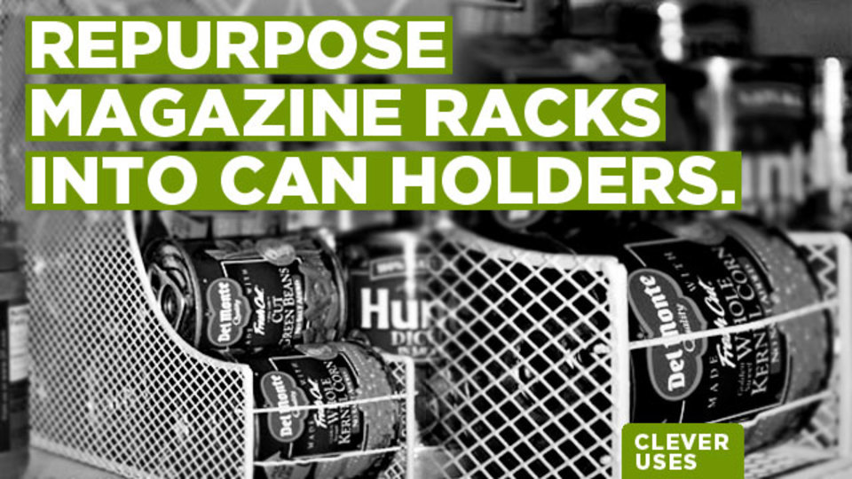 缶の収納にはマガジンラックがピッタリという新発見