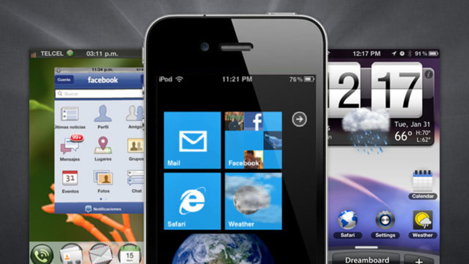 あなたのiPhoneをAndroid、Windows Phone 7、webOS風にする『Dreamboard』(要脱獄)