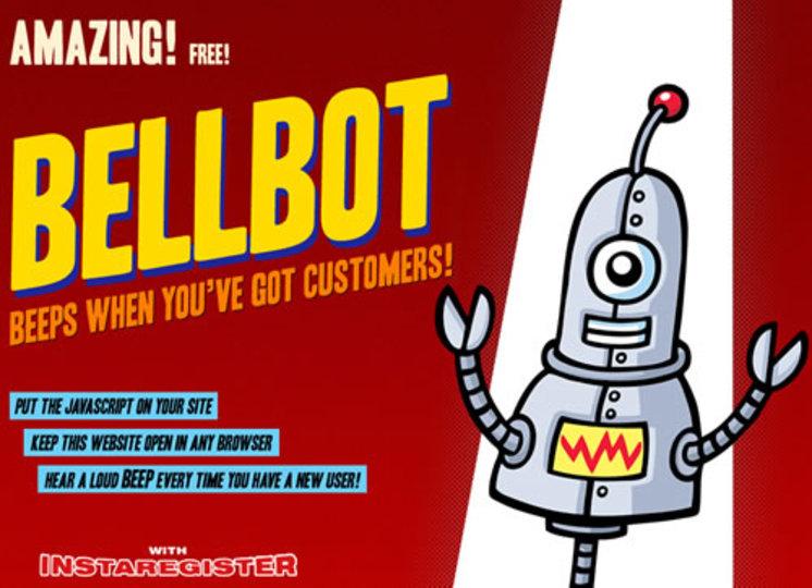 あなたのウェブサイトに誰かが訪れると音で知らせてくれるサービス「Bellbot」