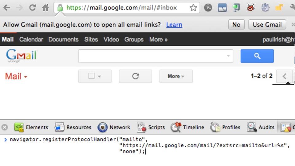 ブラウザでメールリンクをクリックした時にメーラーではなくGmailが開くようにする方法