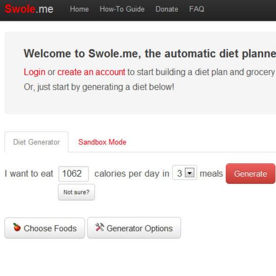 あなたにぴったりのダイエット計画を立ててくれるサービス「Swole.me」