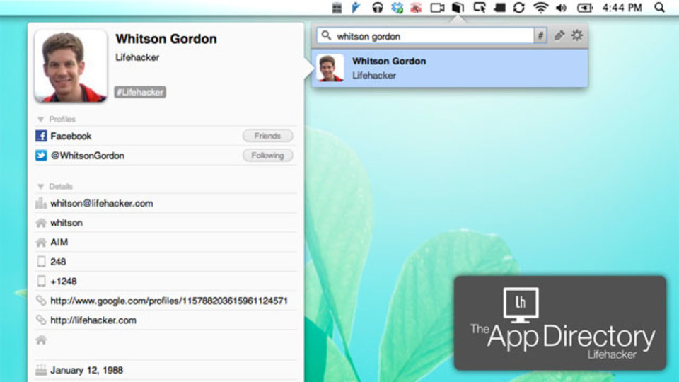 Mac OS Xで最強のアドレスブックアプリはこれだ!