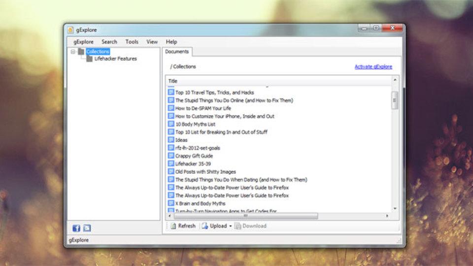 WindowsデスクトップからGoogle Docsを管理できる『gExplore』