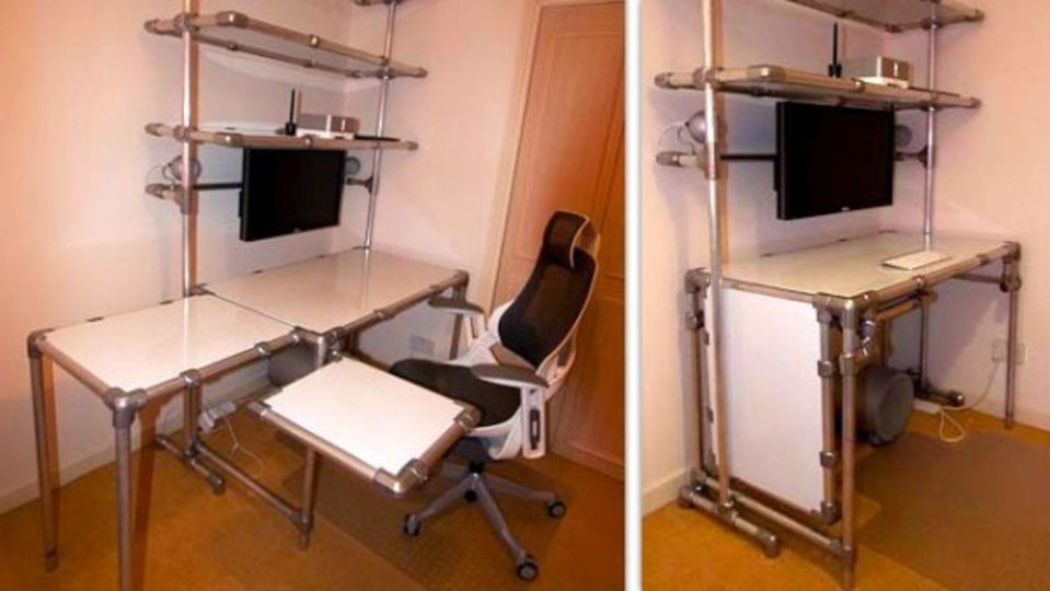 仕事場探訪:「したい」を叶えてくれるパイプ家具