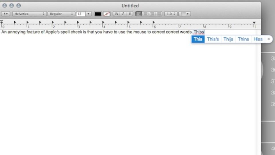 Mac OS Xでスペルミスした時に素早く修正できるキーボードショートカット