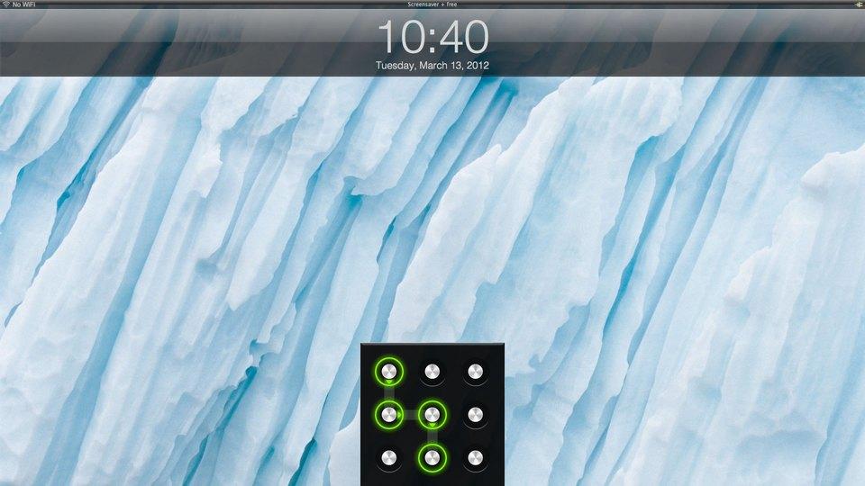 パターンロックにもできる! OS Xのロック画面をiOS風にするアプリ『Screensaver+』