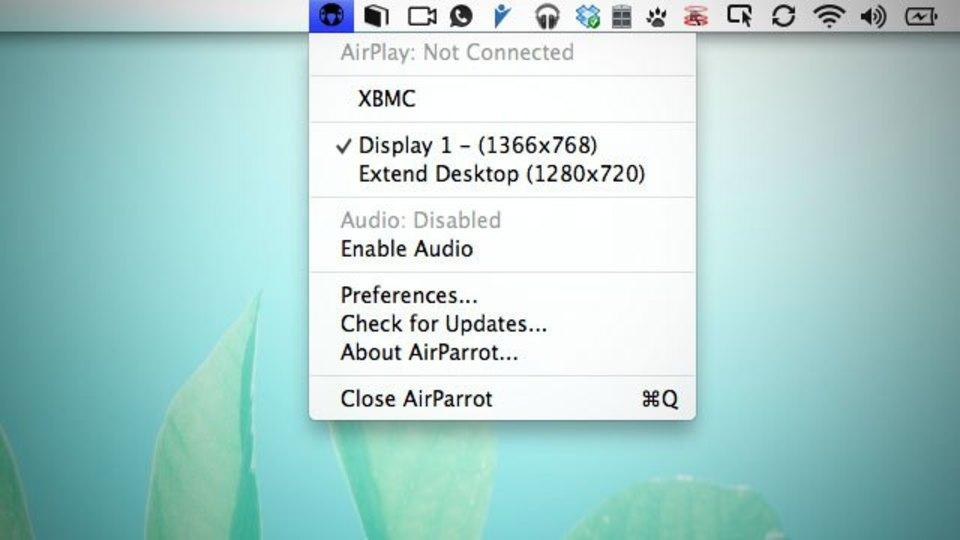 AirPlay経由でMacのディスプレイをミラーしてくれる『AirParrot』