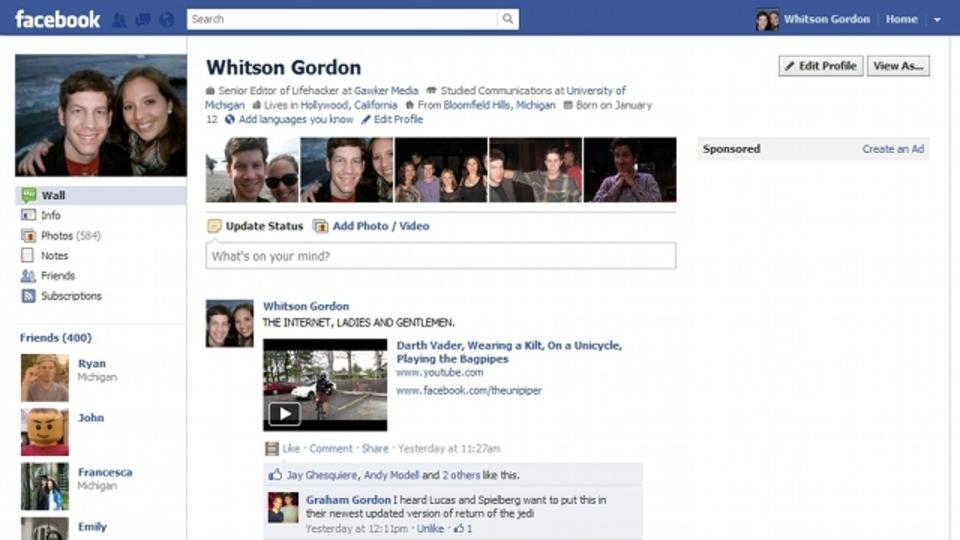Facebookのタイムラインを昔の仕様に戻すアドオン