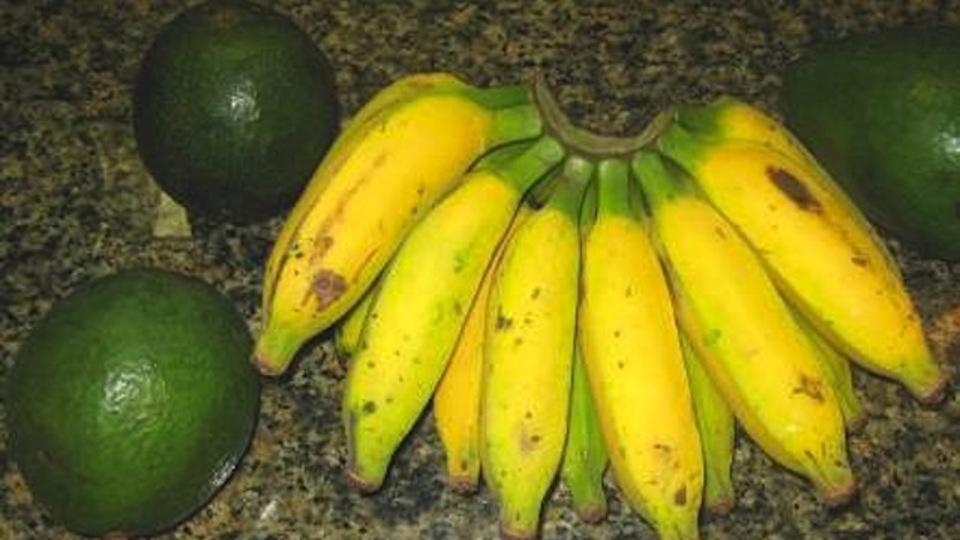 青いアボカドは、バナナの近くに置いておくと早く熟します