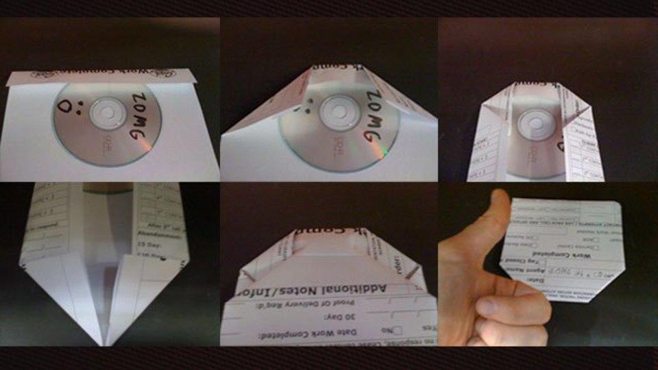 1枚の紙を使って簡単にCDケースを作る方法