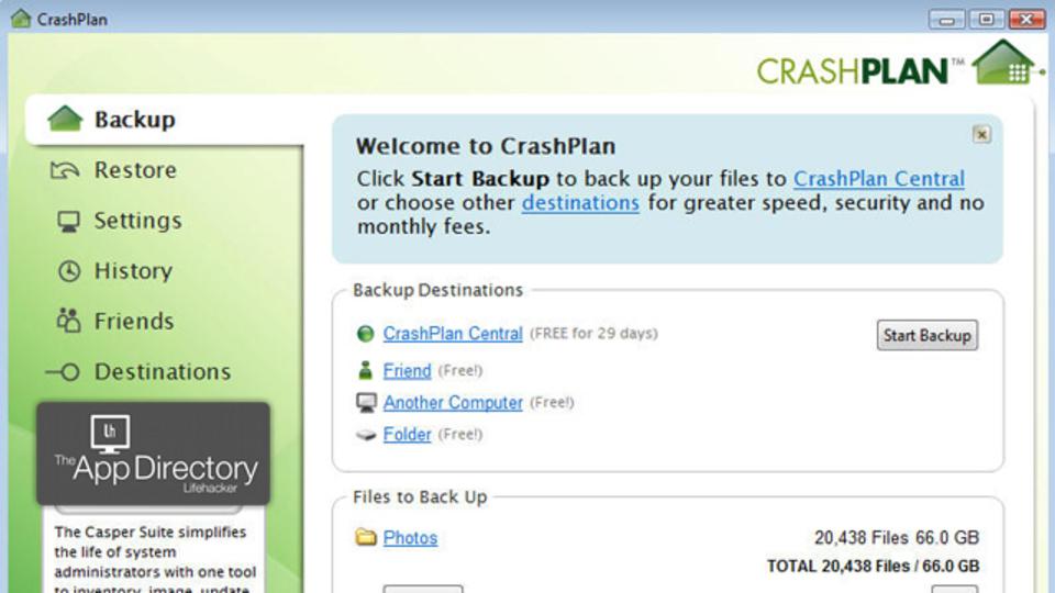 オンラインバックアップアプリに本命現る! 低価格で機能充実な『CrashPlan』