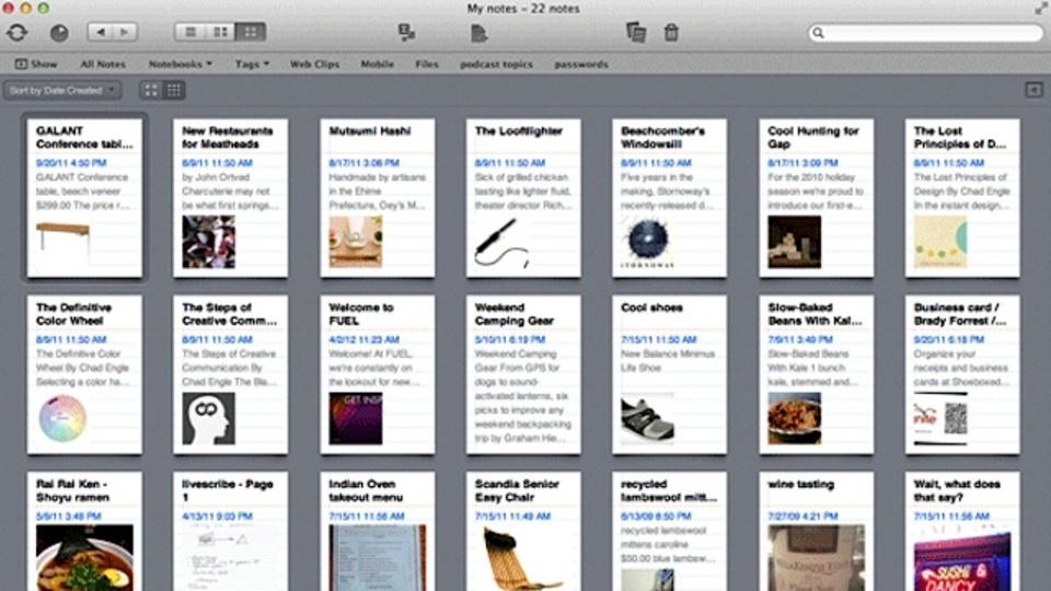 見逃している人は要チェック! EvernoteのiOS版、Mac版がアップグレードしました