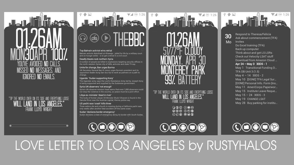 ロサンゼルスへのラブレターホーム画面~究極のホーム画面を求めて