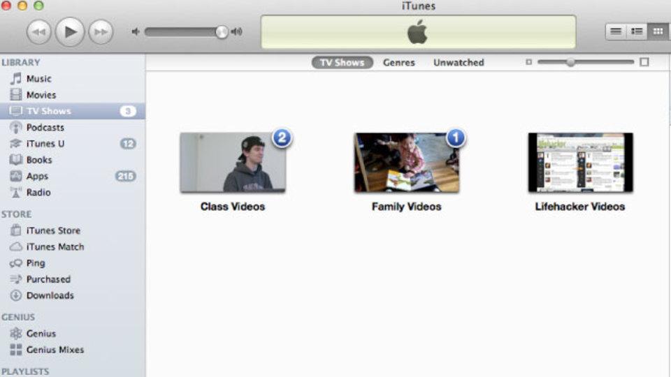 iTunesで動画をグループ分けしたいなら動画をテレビ番組として保存