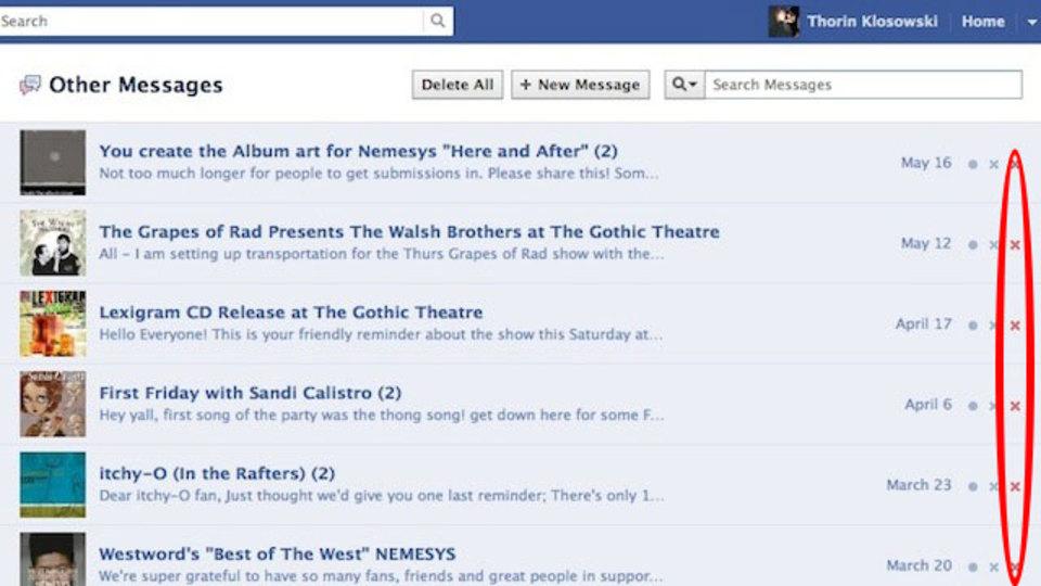 操作の手間を省ける! Facebookメッセージをスレッドごと一発で削除できる拡張機能