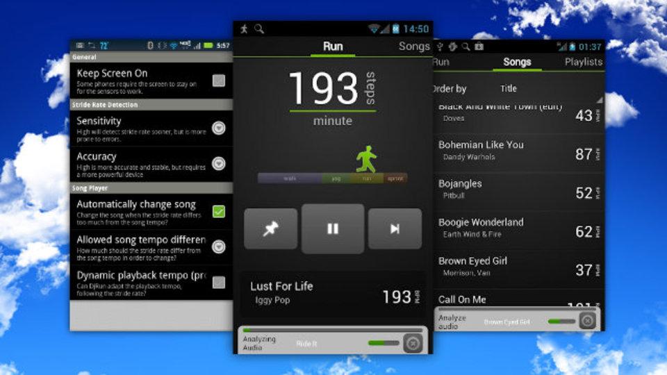 ジョギングのペースにあわせて選曲してくれるAndroid用アプリ『DjRun』