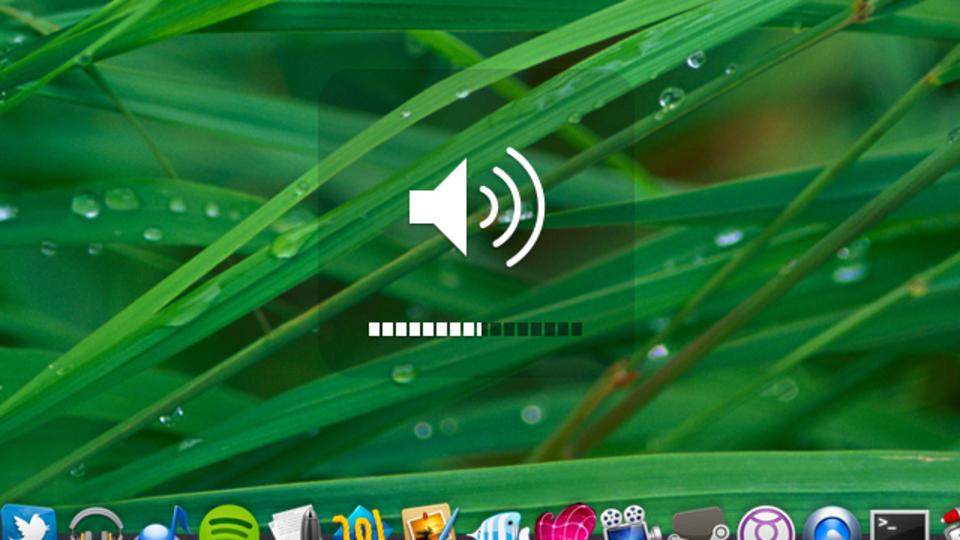 「Shift+Option+音量キー」で、OS Xのボリュームを微調整