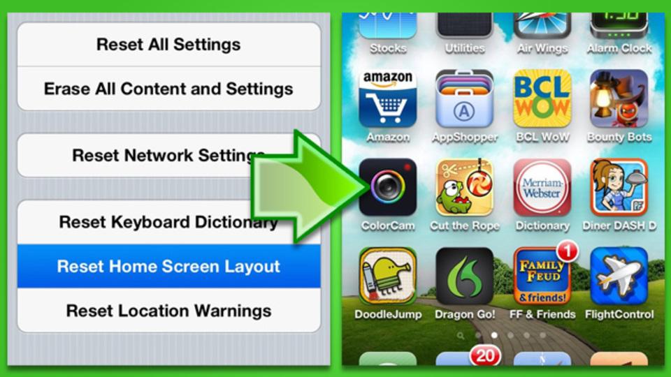 伝家の宝刀? iOSのすべてのアプリをフォルダから取り出す方法