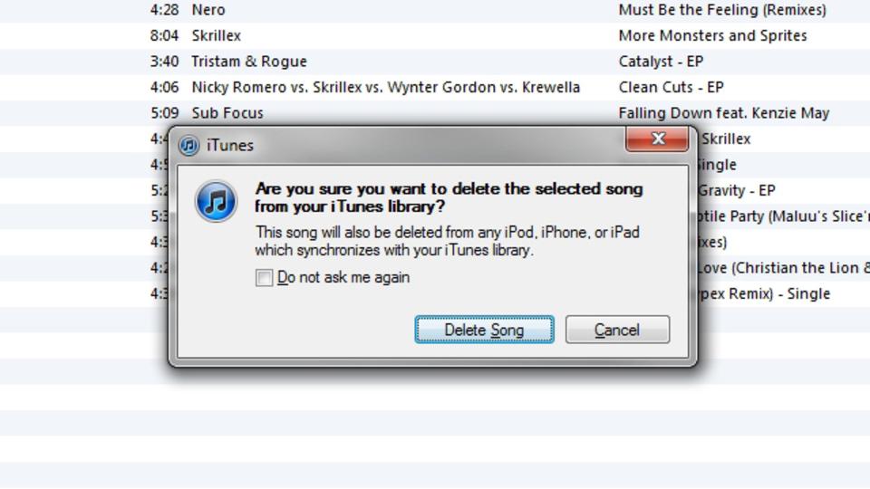 iTunesライブラリの曲をプレイリストから直接削除する方法