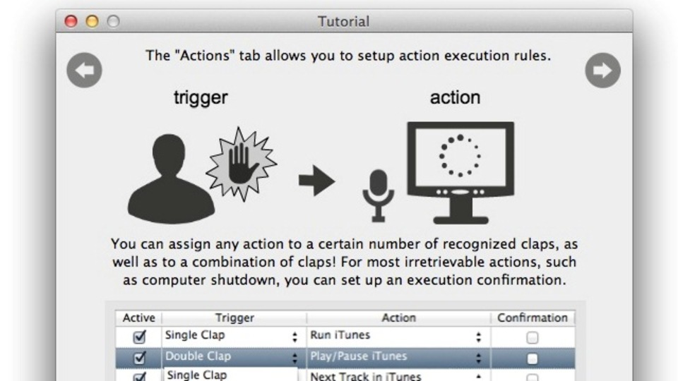 手を叩くと決まった動作をする! Macをメイドさんみたいに使えるアプリ