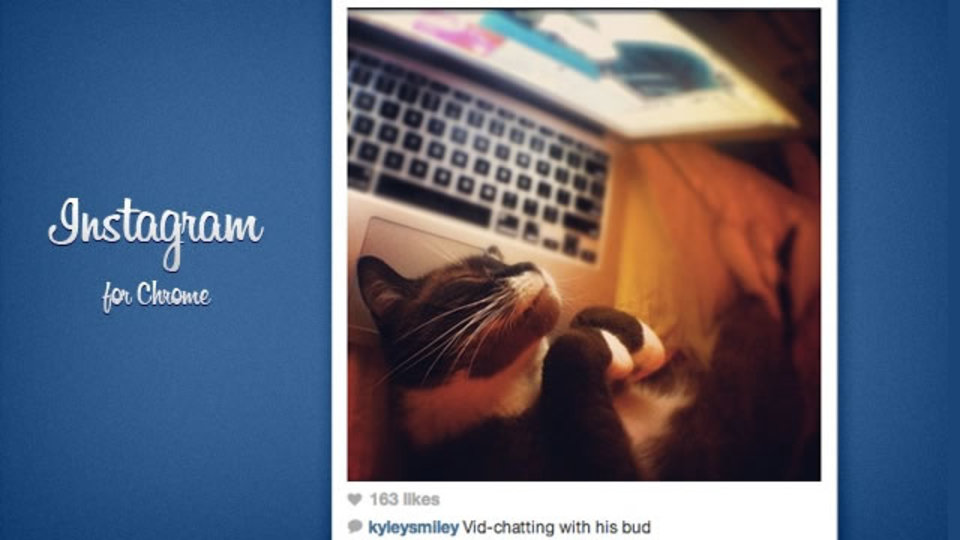 InstagramのフィードをChromeから簡単に閲覧できる「Instagram for Chrome」