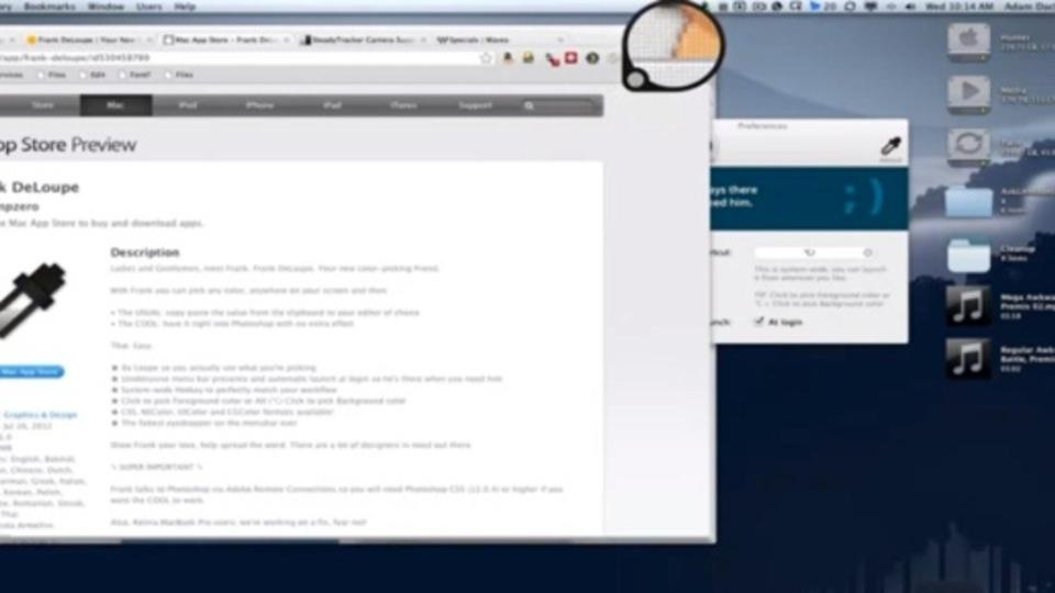 画面から色情報を抽出し、Photoshopと連携するMac用アプリ『Frank DeLoupe』