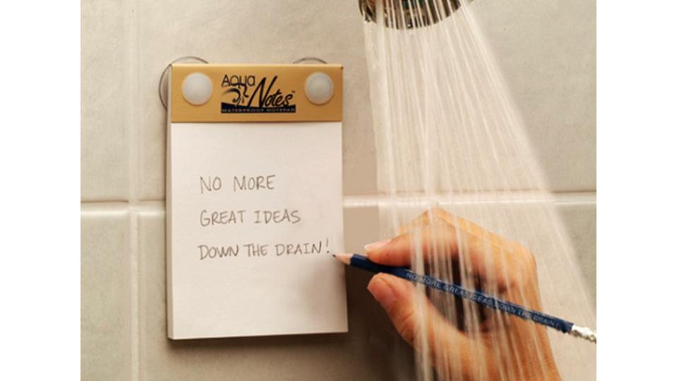 アイデアが生まれる瞬間を逃さない、お風呂で使えるメモパッド