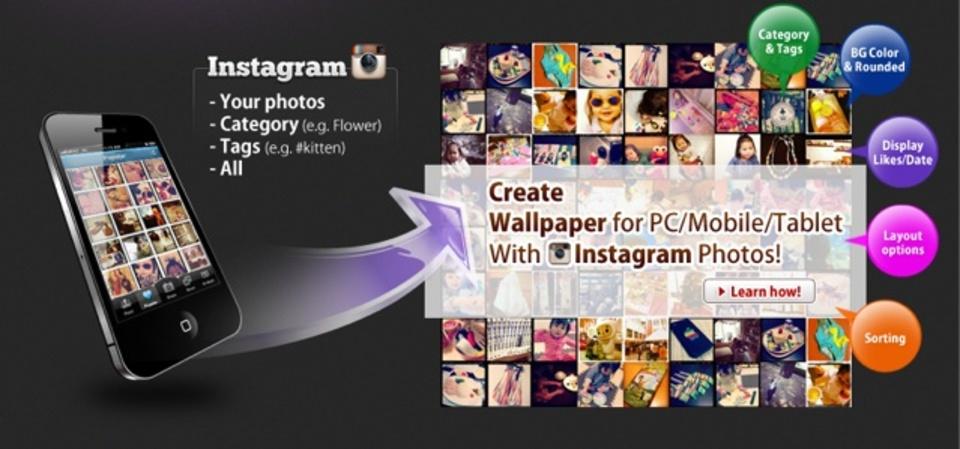Instagram写真を並べた壁紙を簡単に作成できるサービス「InstaWallpaper」