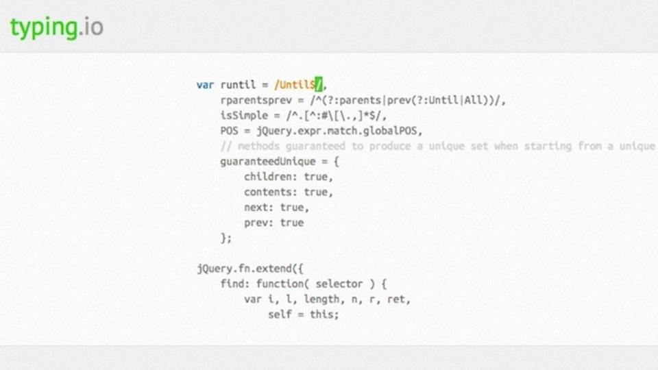 プログラム初学者向けの入力練習用ウェブアプリ「Typing.io」