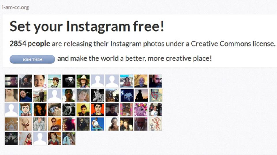 Instagramの画像に一括でクリエイティブコモンズを付与できる「I Am CC」