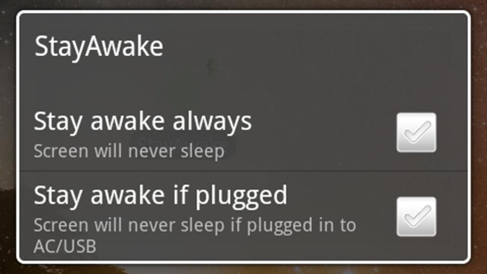 スマホの意図しないスリープモードを防いでくれるアプリ『StayAwake』