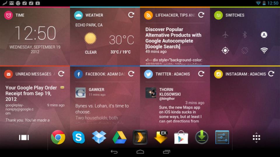 Androidタブレットのホーム画面を効率的かつ魅力的に『Chameleon Launcher』