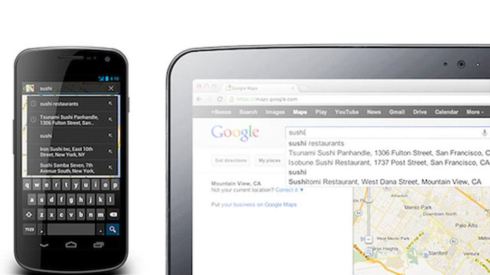 デスクトップとAndroid間で「Google マップ」の履歴などの同期が可能に