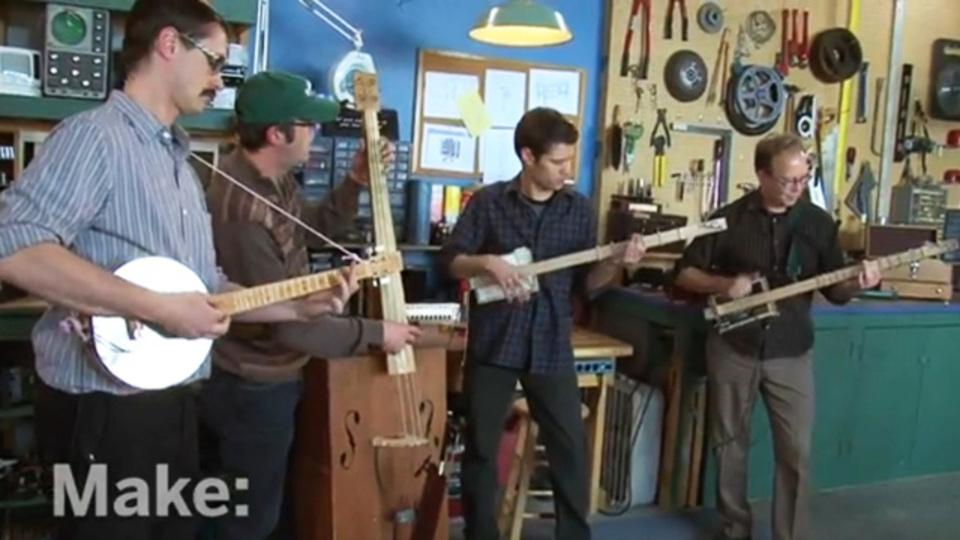 三本弦シガーボックスギターの作り方