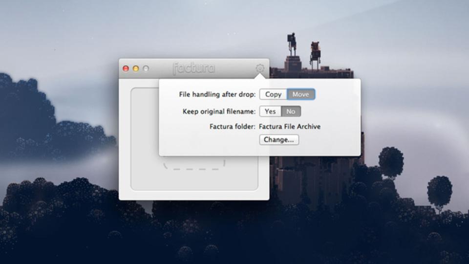 ファイルをドラッグ&ドロップで簡単にアーカイブできるアプリ『Factura』