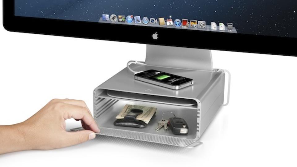 メーカーのMac愛が注がれたiMacにピッタリの高さ調節アクセサリー「HiRise」