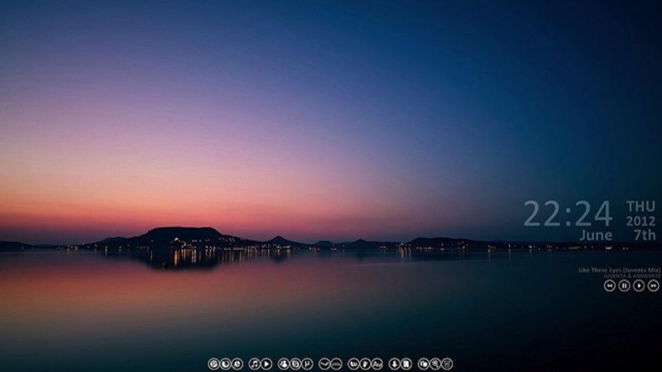 日没前の静寂デスクトップ~究極のデスクトップを求めて