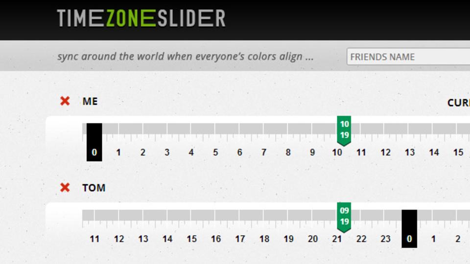 各都市のタイムゾーンをスライダーで簡単に比較できるサイト「Timezoneslider」