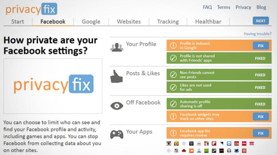 ウェブサイトで取得されている個人情報をチェックする拡張機能『Privacyfix』