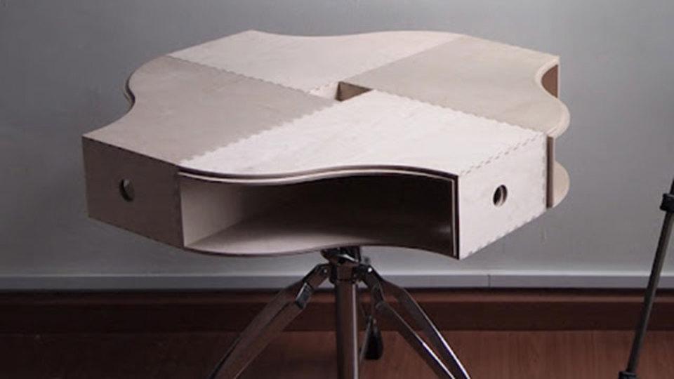 イケアのマガジンファイルとスツールでつくる美しいコーヒーテーブル