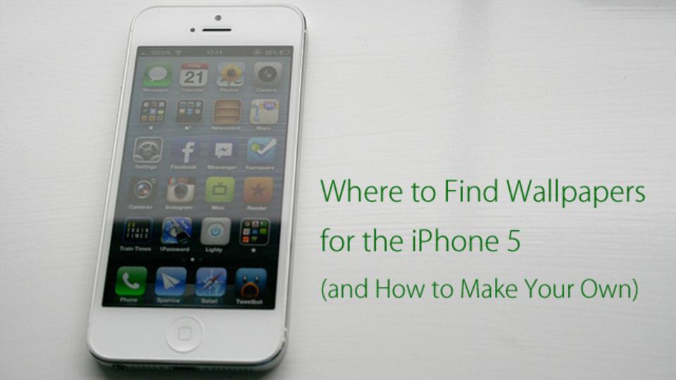 少し長くなったiPhone 5の壁紙まとめサイト5選&自分で作る方法