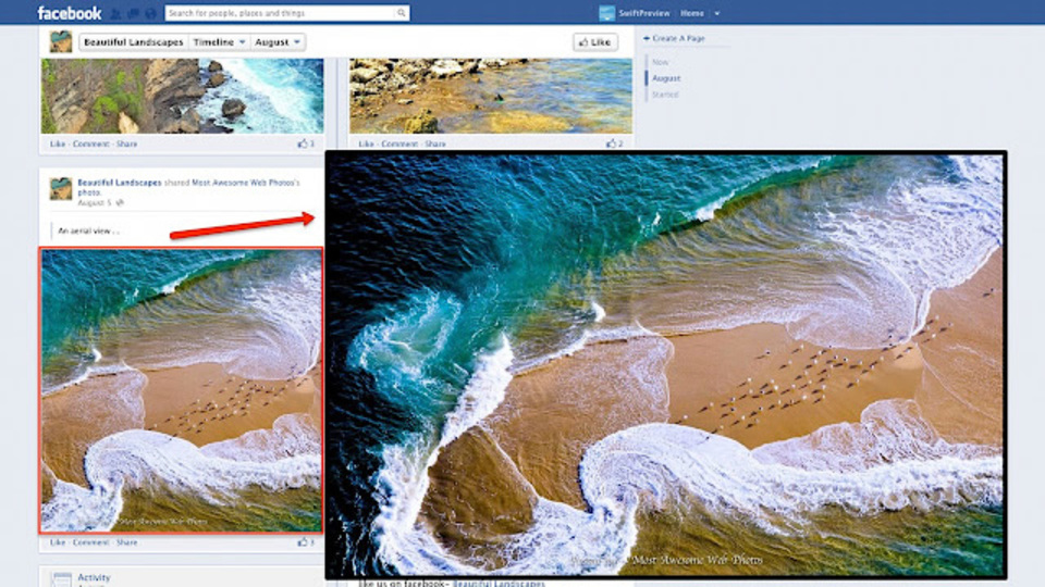 リンク先のプレビューをその場で表示してくれる拡張機能「SwiftPreview」