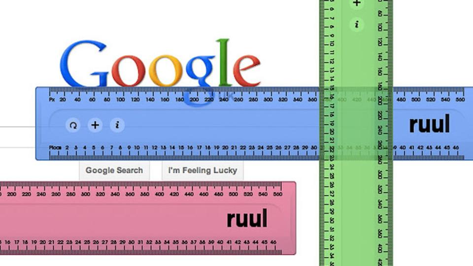 ウェブページにものさしを置いて長さを測れる拡張機能「ruul. Screen ruler」