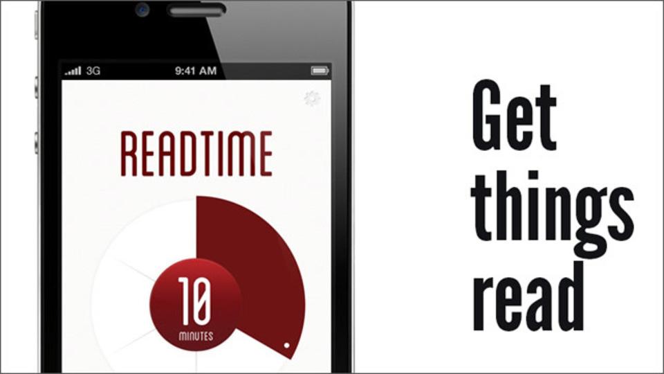 ちょっとした隙間時間に読める記事を提案してくれるアプリ「Readtime」