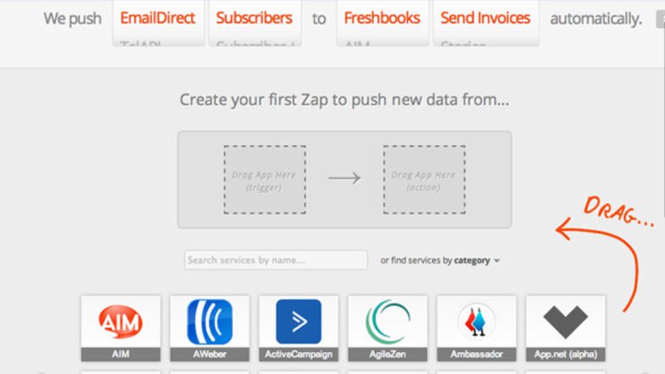 IFTTTより約2倍のサービスに対応した自動化ウェブアプリ「Zapier」