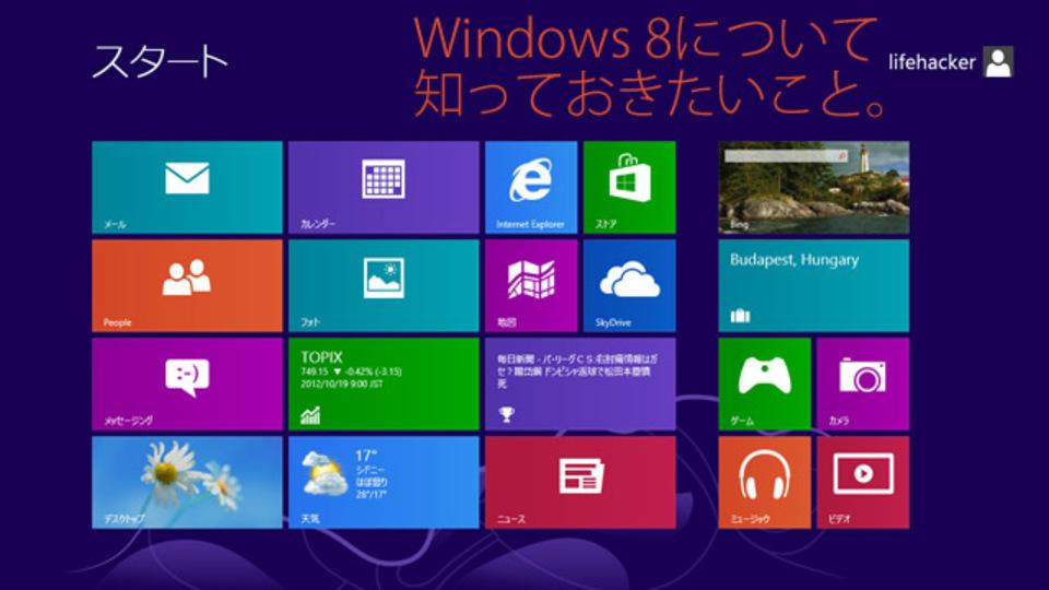 最新OS・Windows 8、だからこそ知っておきたい基礎知識&セキュリティ対策