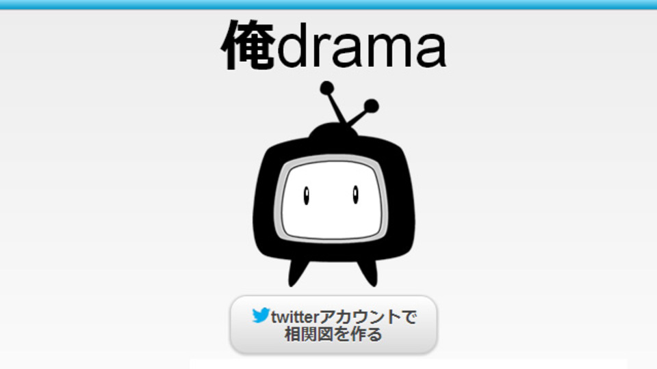 あなたのTwitterを解析して相関図を作ってくれるサービス「俺drama」