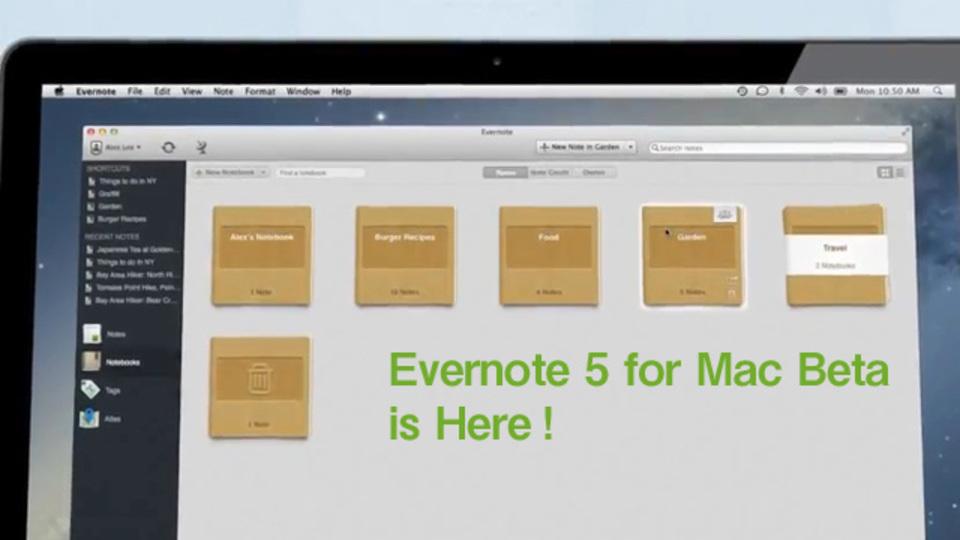 刷新! 『Evernote 5 for Mac』ベータ版が登場